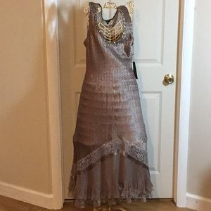 Two Piece Evening Dress Emsemble